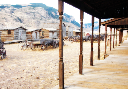 Old west, Old trail town, Cody, Wyoming, United States Stock Photo