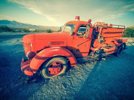 borax: Old vintage classic fire truck, California, USA