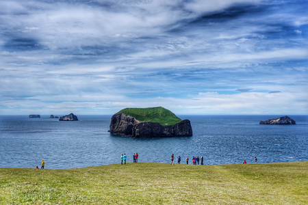 View of islands in Westman Archipelago, Iceland Stock Photo