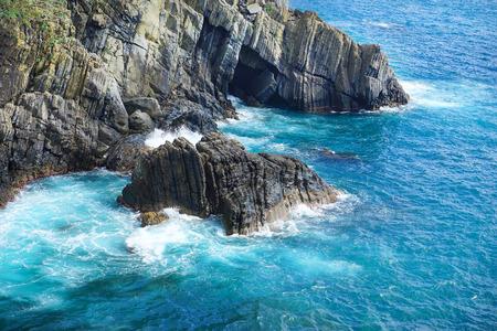 coast of La Spezia province in Luguria, Italy