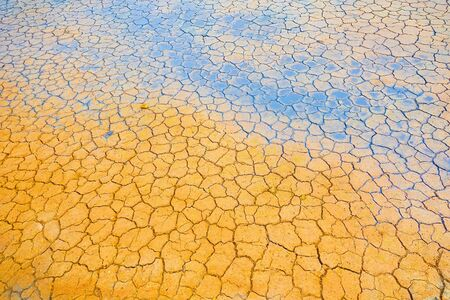 Dry and cracked earth texture