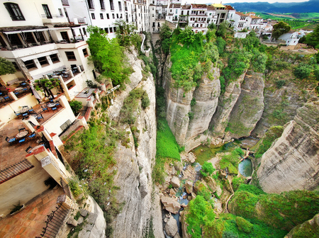 View of the Ronda canyon, Andalusia, Spain, Europe Stock Photo