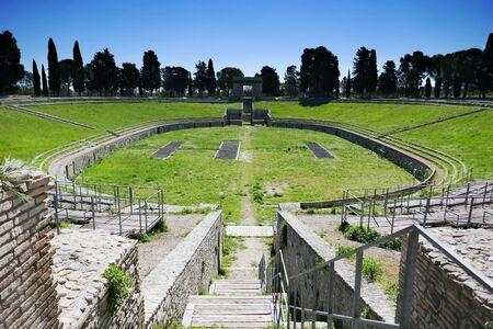 Roman amphitheatre of Lucera. Puglia. Italy