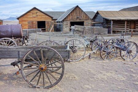 Alte Hinterstadt, Cody, Wyoming, USA Standard-Bild
