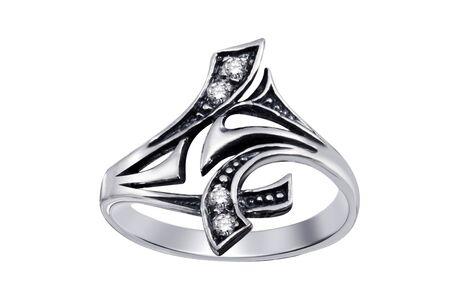 Ring  with gemstones  isolated on white background Stock Photo - 5044205