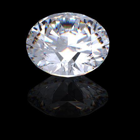 round brilliant: 3D brillante ronda corta la perspectiva de diamante Foto de archivo