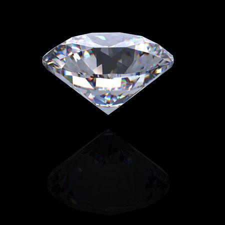 scintillate: 3D brillante ronda corta perspectiva de diamante