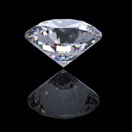 round brilliant: 3D brillante ronda corta perspectiva de diamante