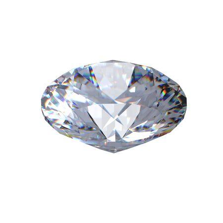 round brilliant: 3D de la Ronda de diamantes talla brillante Foto de archivo