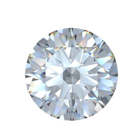 round brilliant: 3D brillante ronda corta diamante