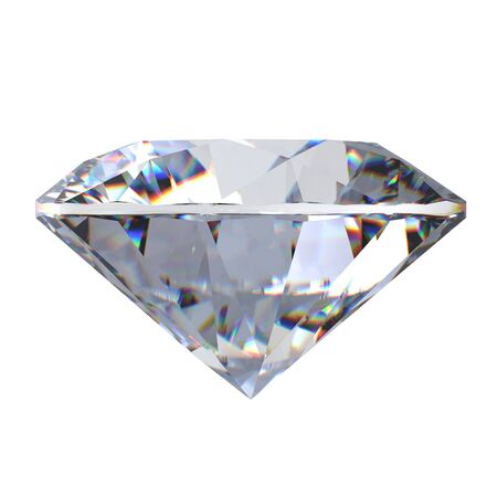 3d Round brilliant cut diamond