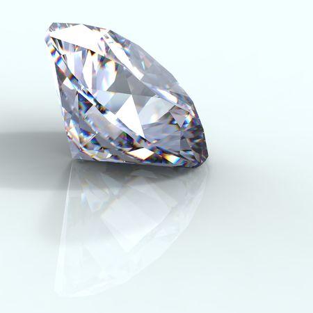 round brilliant: 3d Ronda brillante perspectiva de corte de diamantes