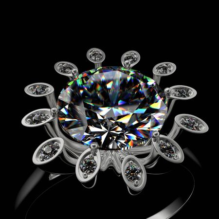 3d rendering of a diamond ring Stock Photo - 5154598