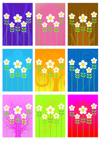 Vector illustration with a colorful abstract background and beautiful  chamomile. Background for a greeting postcard Stock Vector - 5178437