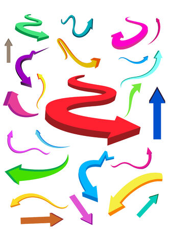 Business & Finance colorful arrows. Make your reports or presentations more illustrative Vector