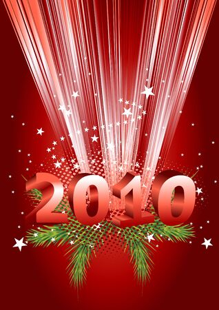 2010 new year composition. 3d vector design. photo