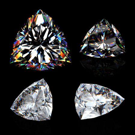 3d brilliant cut diamond isotated on black Stock Photo - 6845530