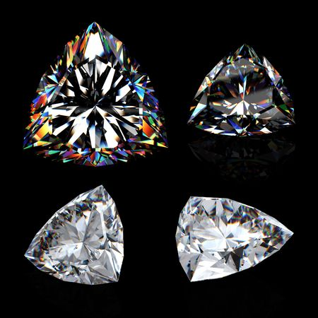 3d brilliant cut diamond isotated on black Stock Photo - 6845530