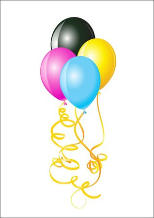 illustration balloons of colors illustration