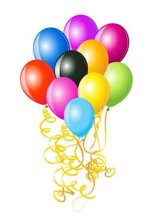 illustration of balloons decoration ready for birthday and party  illustration