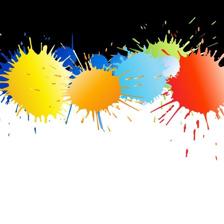 Colorful paint splashes  with  rainbow gradient Vector