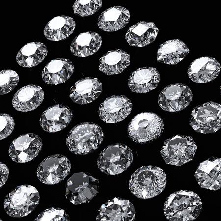round brilliant: Brillante ronda corta perspectivas de diamante sobre fondo negro