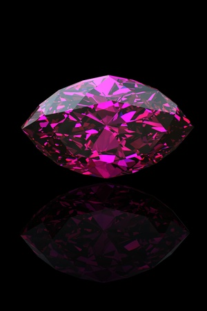 Amethyst. Marquis. Jewelry gems on black background Stock Photo