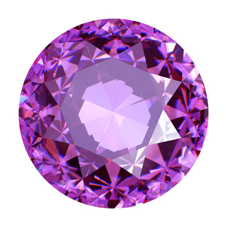 ruby gemstone: Round ruby isolated on white background. Gemstone