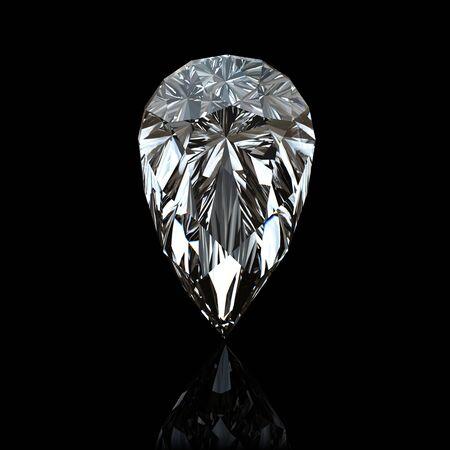 Jewelry gems on black background. Pear photo