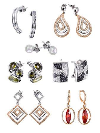 Stylish jewelry. Rings  with gems isolated on white background Stock Photo - 9610662