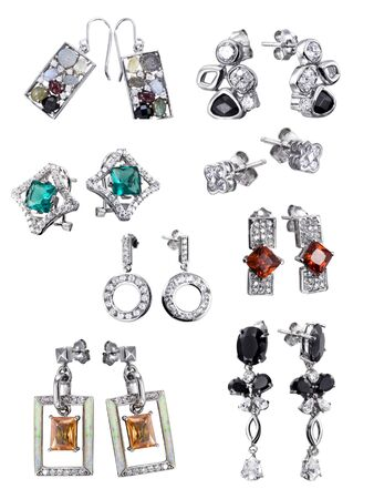 Stylish jewelry. Rings  with gems isolated on white background Stock Photo - 9610663