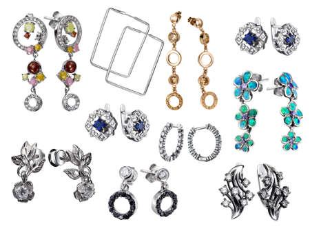 Stylish jewelry. Rings  with gems isolated on white background Stock Photo - 9610678