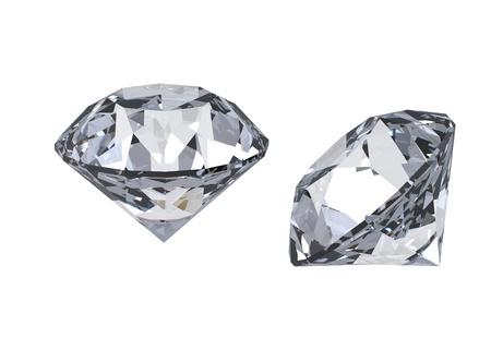 fake diamond: Round diamond  isolated on white background