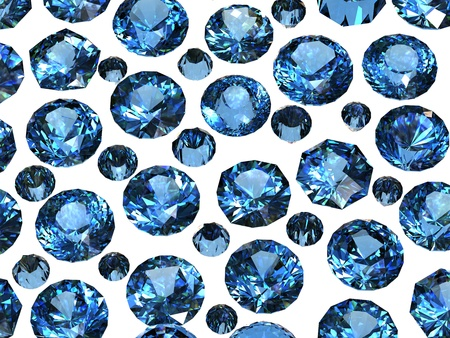 Set of Round blue sapphire. Gemstone Stock Photo - 10536539
