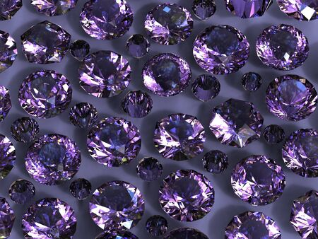 Set of round amethyst . Gemstone Stock Photo - 10536538