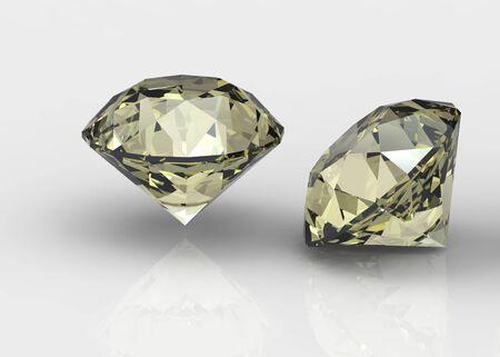 fake diamond: Yellow sapphire isolated on black background. Gemstone