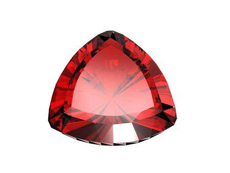 trillion: Jewelry gems shape of trillion. Ruby