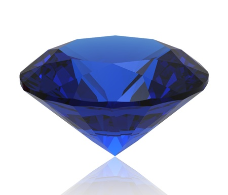 Blue sapphire gemstone isolated. Gems different cut photo