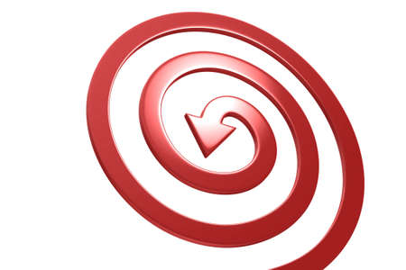 swerve: Colorful arrows on white background isolated. Spiral shape