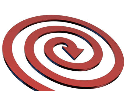slew: Colorful arrows on white background isolated. Spiral shape