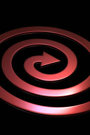 slew: Spiral shape arrows on black background isolated