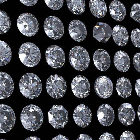 fake diamond: Collection of  diamond   Background with round  gemstone