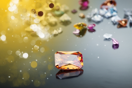 zircon: Background with set of many different gemstone