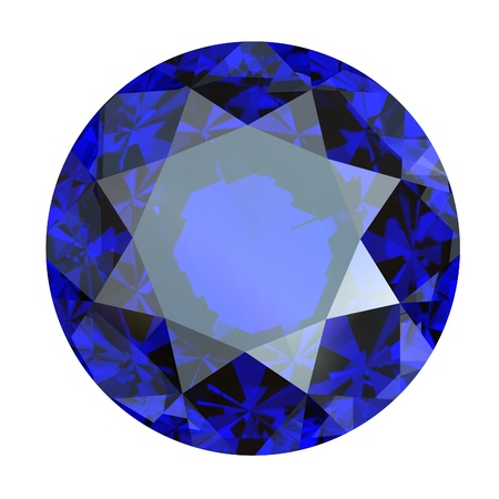 Jewelry gems roung shape on white background Tanzanite  Sapphire