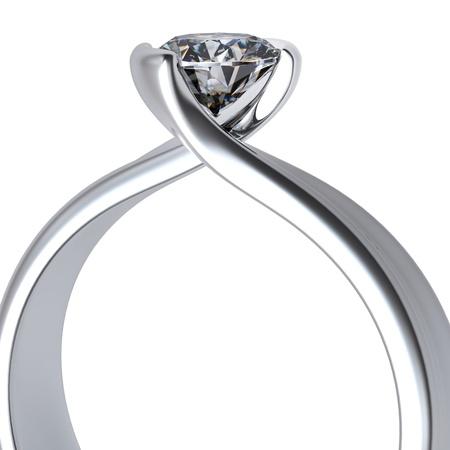 diamante negro: Anillo de bodas de diamante en Sign fondo blanco del amor Foto de archivo