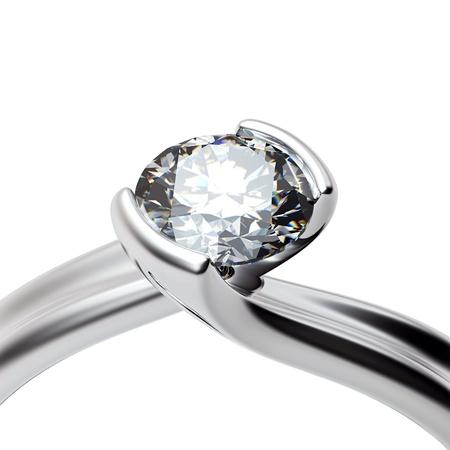 약혼: 사랑의 흰색 배경에 기호에 다이아몬드 결혼 반지 스톡 사진