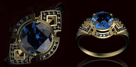 holiday symbol: Anello di cerimonia nuziale in oro con il simbolo del diamante di vacanza