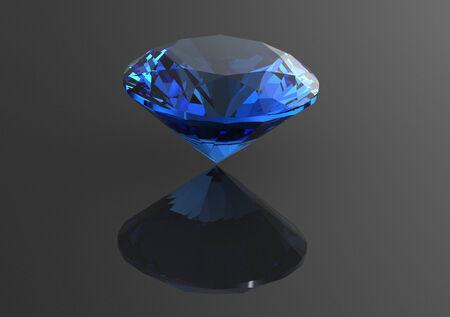 Luxury 3D diamonds render. Jewelry gemstone. Benitoit. Sapphire. Iolite.Tanzanite photo