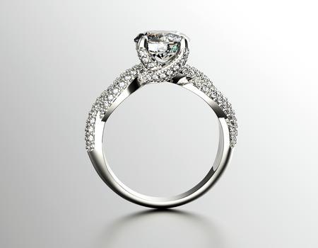 anillo de compromiso: Anillo de compromiso de oro con diamante o moissanite. Fondo de la joyer�a
