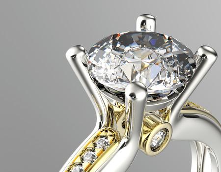 Gouden Ring met Diamond Jewelry achtergrond